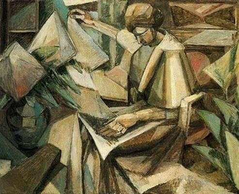 Femme aux phlox, par Albert Gleizes