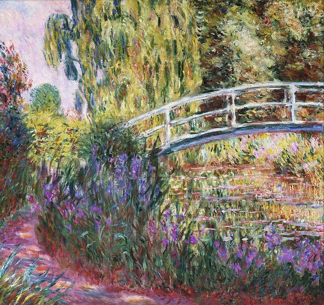 la beauté est partout Claude-monet-iris-eau