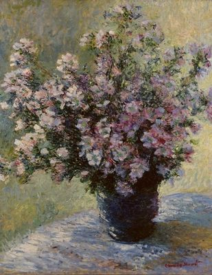 Bouquet de mauves, par Claude Monet