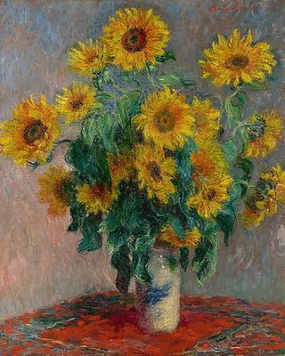Bouquet de tournesols, par Claude Monet