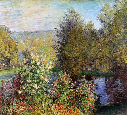 Coin de jardin à Montgeron, par Claude Monet