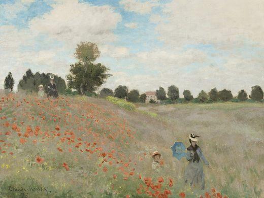 Le champs des coquelicots, par Claude Monet