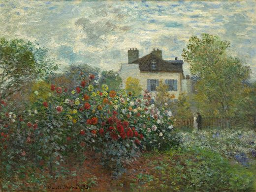 Les dahlias, par Claude Monet