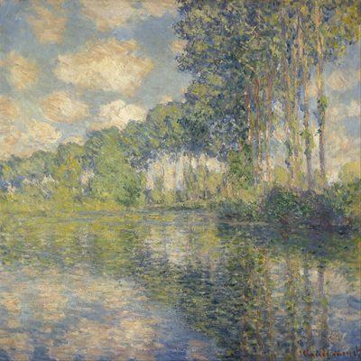 Peupliers sur les berges, par Claude Monet