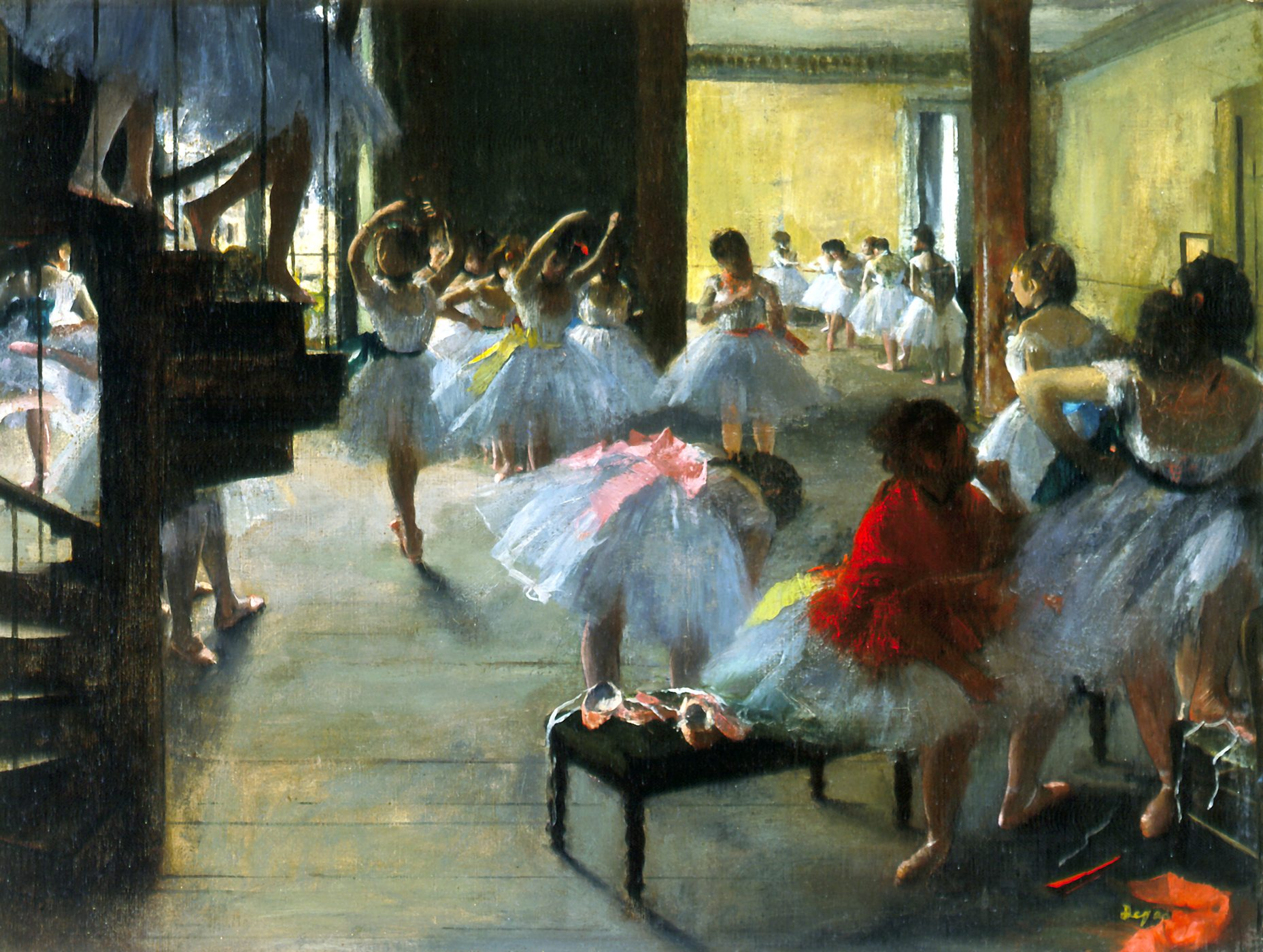 Edgar Degas. Ecole de danse | Ballerine degas, Tableaux de ...