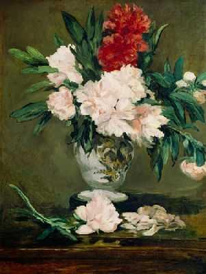 Vase de pivoines, par Édouard Manet