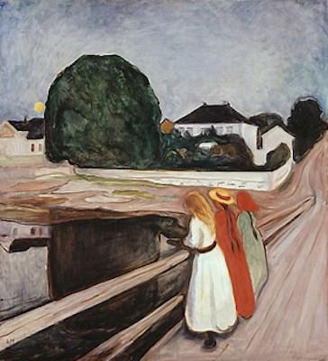 Les jeunes filles sur le pont, par Edvard Munch