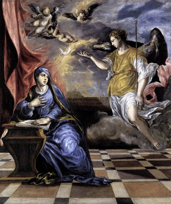 L'annonciation, par El Greco