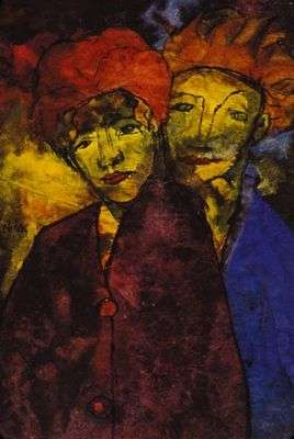 Le couple, par Emil Nolde