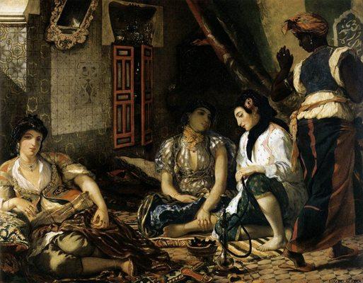 Femmes d'Alger, par Eugène Delacroix