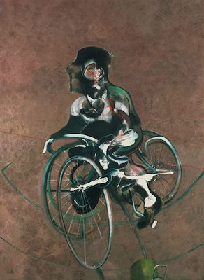 George Dyer en cycliste, par Francis Bacon