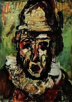 Clown tragique, par Georges Rouault