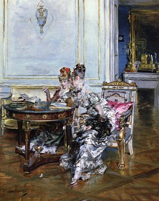Confidences, par Giovanni Boldini