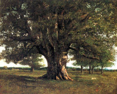 Le chêne de Flagey, par Gustave Courbet