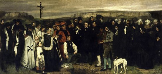 Un enterrement à Ornans, par Gustave Courbet