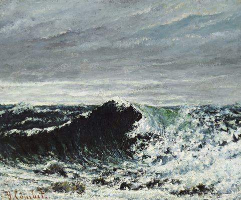 La vague (Edimbourg), par Gustave Courbet