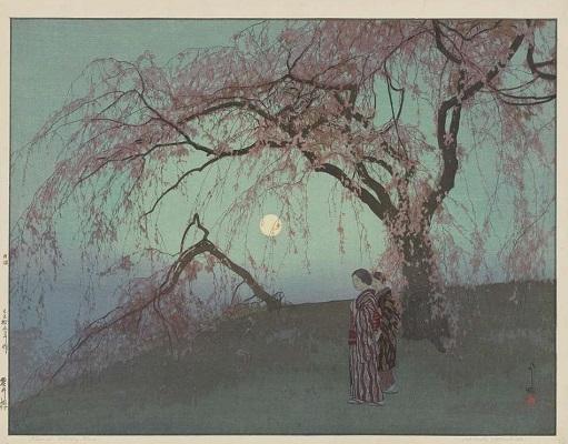 Cerisiers, par Hiroshi Yoshida