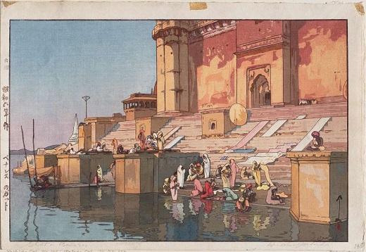 Ghat à Benares, par Hiroshi Yoshida