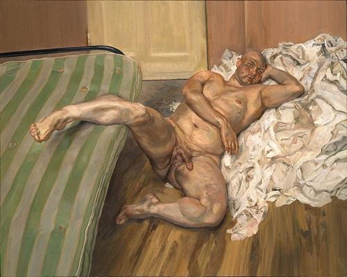 Nu à la jambe levée, par Lucian Freud