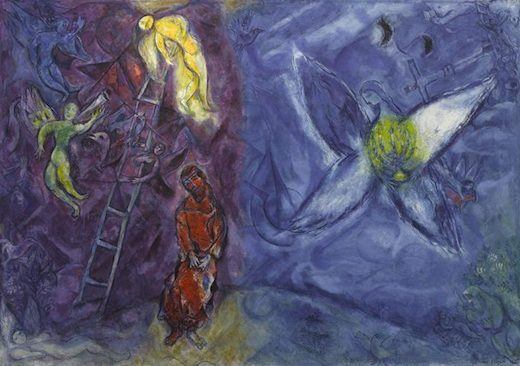 Le songe de Jacob, par Marc Chagall