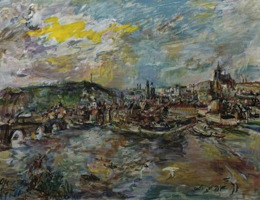 Port de Prague, par Oskar Kokoschka