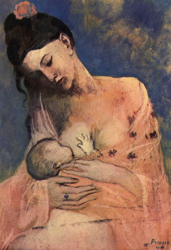 Histoire en images - Page 2 Pablo-picasso-maternite