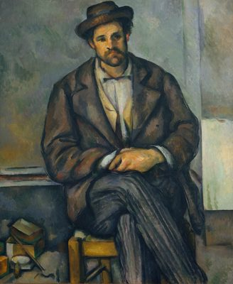Paysan assis, par Paul Cézanne