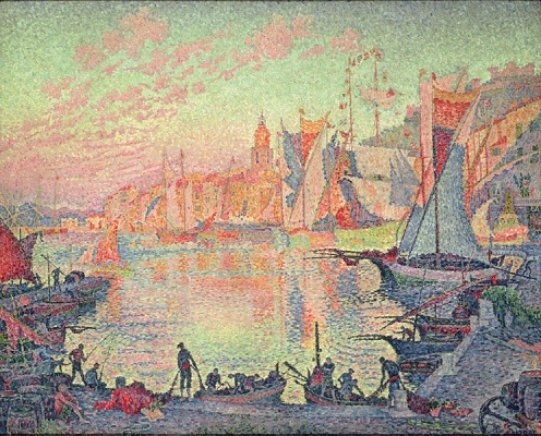 Le port de Saint-Tropez, par Paul Signac