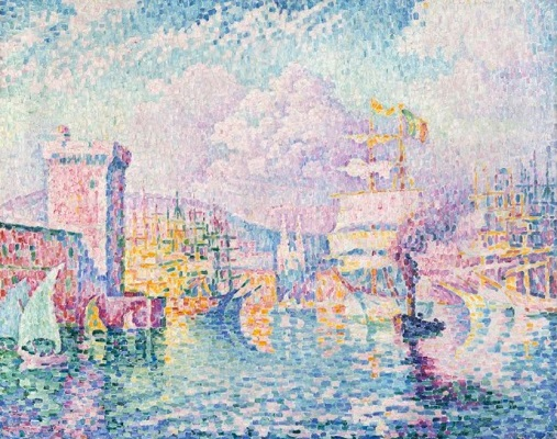 La Tour rose, Marseille, par Paul Signac