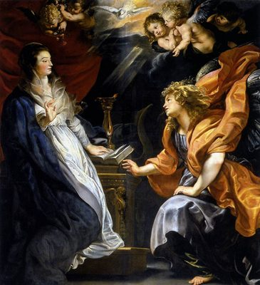 L'annonciation (1610), par Peter-Paul Rubens