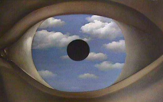 Le faux miroir, par René Magritte