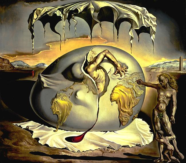 Vos œuvres fétiches  Salvador-dali-enfant-geopolitique-observant-naissance-homme-nouveau