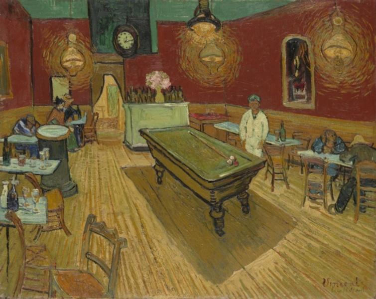 """"""" La Vie de Peintres Célèbres en Vidéo """" Vincent-van-gogh-cafe-de-nuit"""
