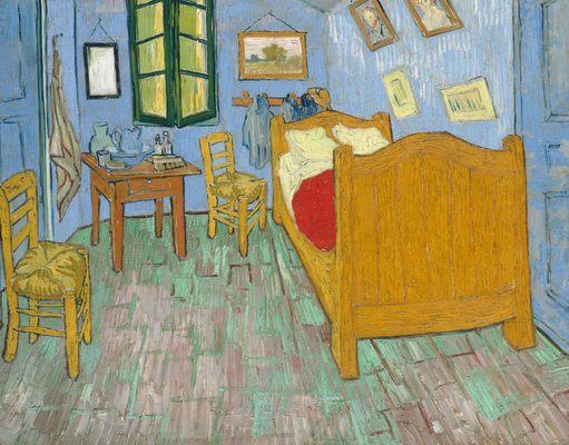 """"""" La Vie de Peintres Célèbres en Vidéo """" Vincent-van-gogh-chambre"""