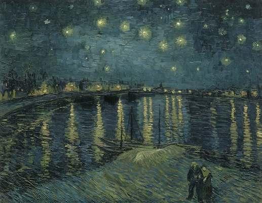 """"""" La Vie de Peintres Célèbres en Vidéo """" Vincent-van-gogh-la-nuit-etoilee-sur-le-rhone"""