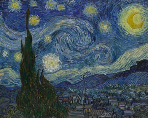 """"""" La Vie de Peintres Célèbres en Vidéo """" Vincent-van-gogh-la-nuit-etoilee"""
