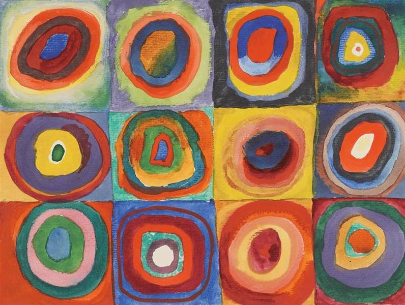 Plusieurs cercles, par Wassily Kandinsky