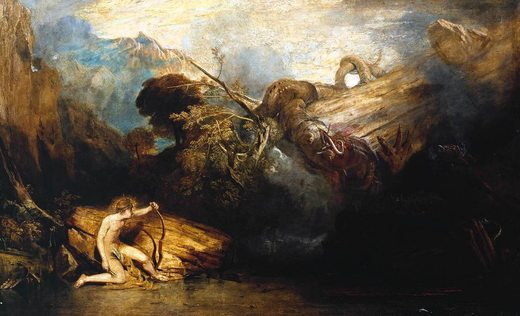 Apollon et Python, par William Turner