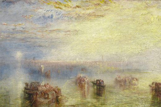 L'approche de Venise, par William Turner