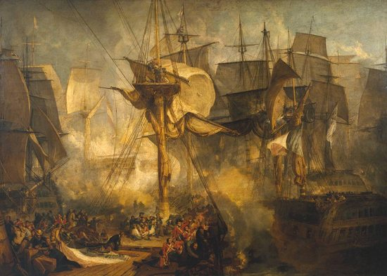 La bataille de Trafalgar (II), par William Turner