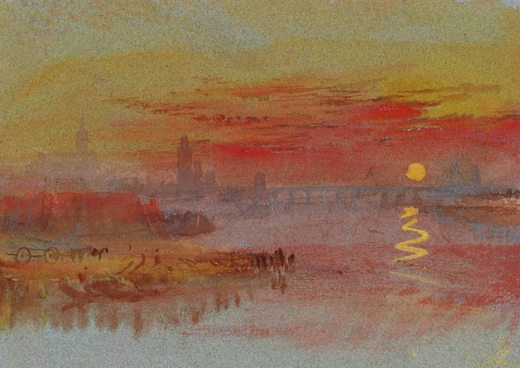 Coucher de soleil écarlate, par William Turner
