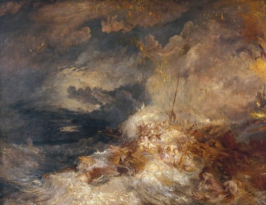 Un désastre en mer, par william turner