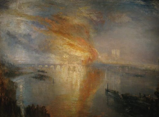 Incendie de la chambre des Lords, par William Turner