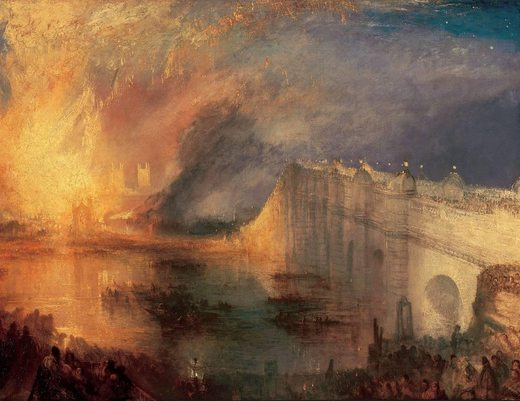 Incendie de la chambre des Lords (II), par William Turner