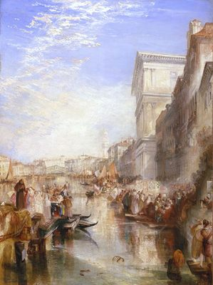 Une rue à Venise, par william turner