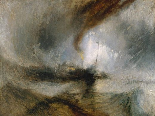 Tempête en mer, par william turner