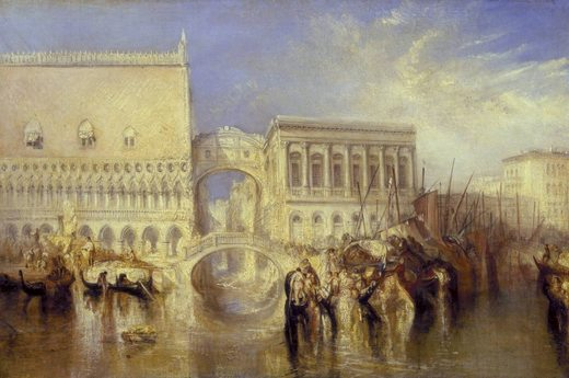 Venise : Pont des soupirs, par william turner