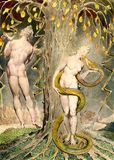 La tentation d'Eve, tableau de William Blake